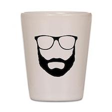 Cool Beard Dude Shot Glass
