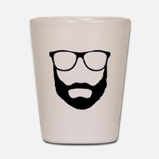 Cool Beard Dude Shot Glass