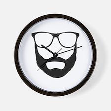 Cool Beard Dude Wall Clock