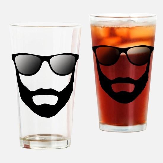 Cool Beard Dude Drinking Glass