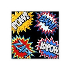 Comic Book Bursts Pow! 3D Sticker