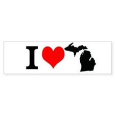 I Love Michigan Bumper Bumper Sticker