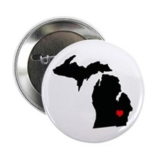 I Love Michigan 2.25&Quot; Button (100 Pack)