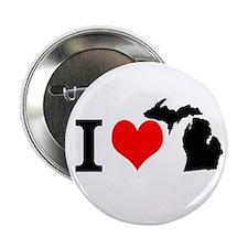 I Love Michigan 2.25&Quot; Button