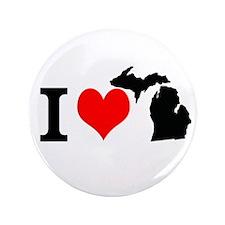 I Love Michigan 3.5&Quot; Button