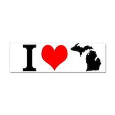 I Love Michigan Car Magnet 10 X 3