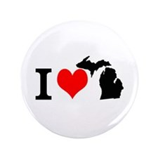 I Love Michigan 3.5&Quot; Button (100 Pack)