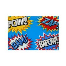 Comic Book Bursts Pow! 3D Magnets