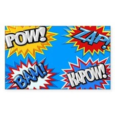Comic Book Bursts Pow! 3D Decal