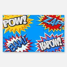 Comic Book Bursts Pow! 3D Decal