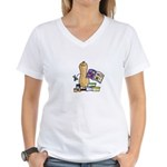 Scrapbooking Nut Women's V-Neck T-Shirt