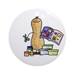 Scrapbooking Nut Ornament (Round)