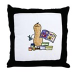 Scrapbooking Nut Throw Pillow