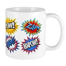 Comic Book Bursts Pow! 3D Mugs