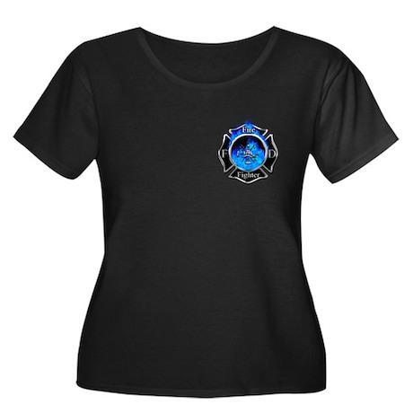 Firefighter Maltese Cross Plus Size T-Shirt