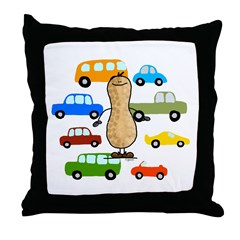 Car Nut Throw Pillow
