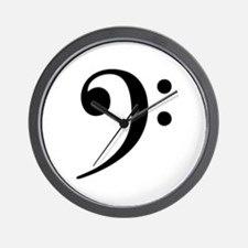 Bass Clef - Music Symbol Wall Clock