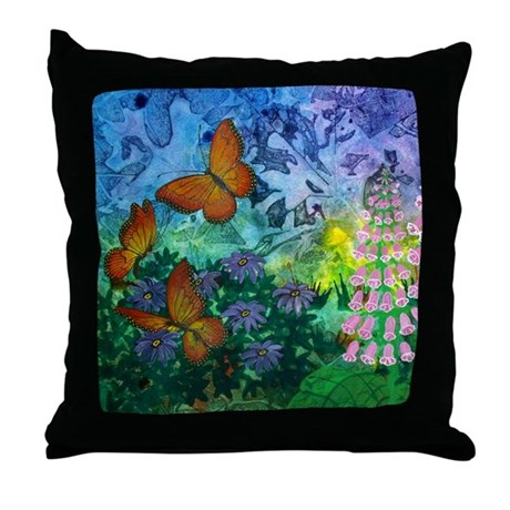 Monarch Haven 18 Inch Throw Pillow by ArtByMark1