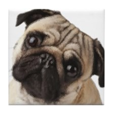 Pug Oil Painting Face Tile Coaster