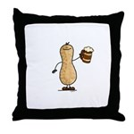 Beer Nut Throw Pillow