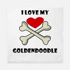 I Love My Goldendoodle Queen Duvet