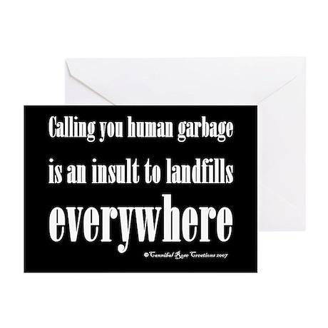 """Human Garbage """"Greeting"""" Cards (Pk of 10)"""