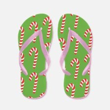 Holiday Candy Canes Flip Flops