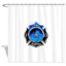 Firefighter Maltese Cross Shower Curtain