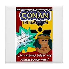 Conan the Bacterium Tile Coaster