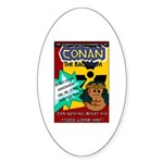 Conan the Bacterium Oval Sticker