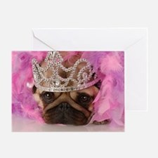 Queen Pug Greeting Cards