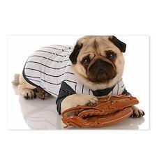 Baseball Pug Postcards (Package of 8)