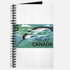 Vintage 1968 Canada Narwhal Postage Stamp Journal