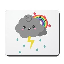 Kawaii Rainbow Behind Every Dark Cloud Mousepad