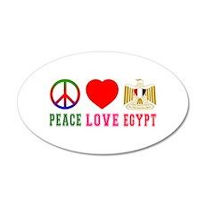 Peace Love Egypt Wall Decal