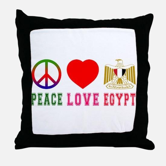 Peace Love Egypt Throw Pillow