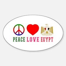 Peace Love Egypt Decal