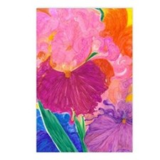 Crazy Color Mixed Up Iris Postcards (Package of 8)