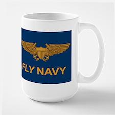 Naval Flight Officer Wings Large Mug
