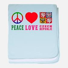 Peace Love Czech Republic baby blanket