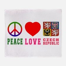 Peace Love Czech Republic Throw Blanket