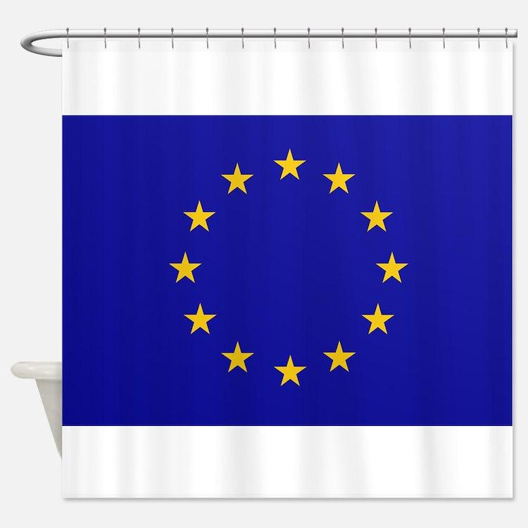 EU European Union Shower Curtain