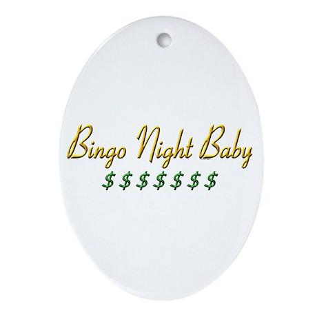 Bingo Night Baby Oval Ornament