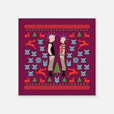 "Vicious Christmas Sweater Tee Square Sticker 3"" x"