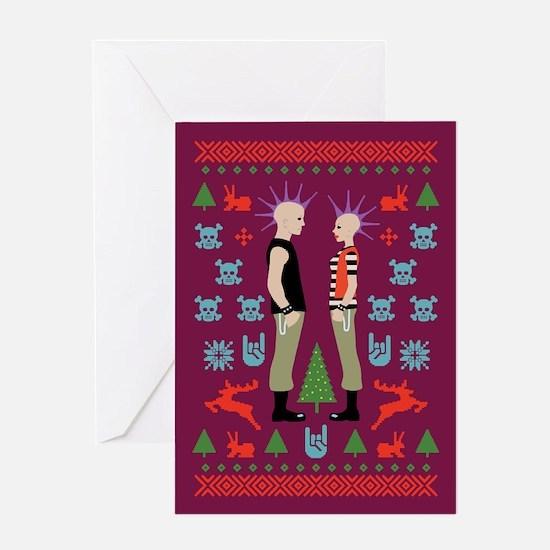 Vicious Christmas Sweater Tee Greeting Card