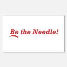 Be the Needle! Sticker (Rectangle)