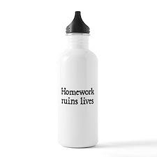 Homework ruins lives Water Bottle
