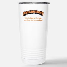 Phlebotomy / Sit Down Stainless Steel Travel Mug