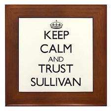 Keep calm and Trust Sullivan Framed Tile