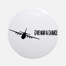 Give War A Chance Ornament (Round)